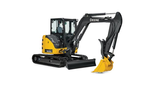 Where to find EXCAVATOR, JOHN DEERE 50G W  THUMB in Reading