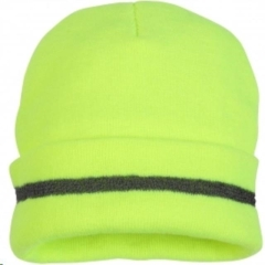 Rental store for HAT, BEANIE KNIT REFL. NEON YELLOW in Reading PA
