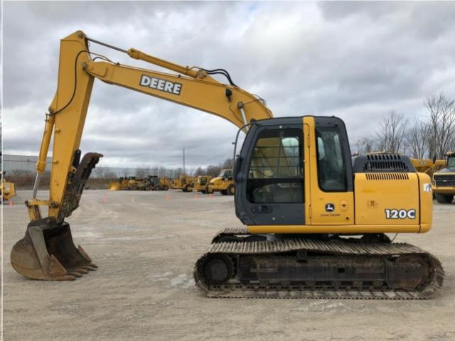 Where to find EXCAVATOR,, JOHN DEERE 120C W  THUMB in Reading