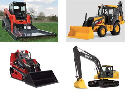 Earthmoving equipment rentals in Berks County